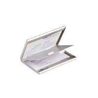 Visitenkartenbox Durable 243323 Duo, für 20 Karten, metallic silber