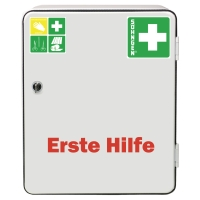 Verbandsschrank Söhngen Heidelberg mit Füllung DIN 13157, weiß