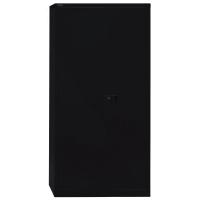Schrank Bisley, Flügeltür, 4 Böden, Maße: 1.950 x 914 x 400mm, schwarz