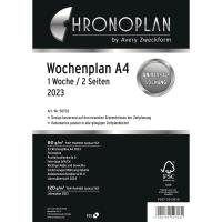 Wochenplan 2018 Chronoplan 50708, 1 Woche / 2 Seiten, A4