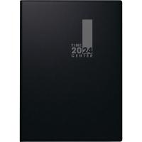 Taschenkalender 2018 Brunnen 72956 Timecenter, 1 Woche / 2 Seiten, A6, schwarz