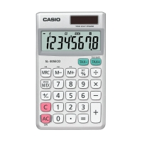 Taschenrechner Casio SL-305 Eco, 8stellig, Solar-/Batteriebetrieb, silber