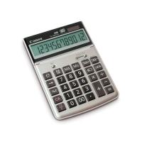 Tischrechner Canon TS-1200TCG, 12-stellig, Solar/Batterie, silber