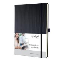 Notizbuch Sigel Conceptum CO111, A4, kariert, Hardcover, 194 Seiten, schwarz