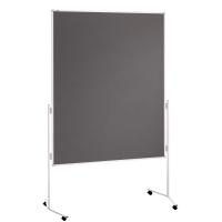 Moderationswand Franken ECO-UMTF12R, Maße: 150 x 120cm, Filz, mit Rollen, grau