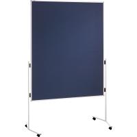 Moderationswand Franken ECO-UMTF03R, Maße: 150 x 120cm, Filz, mit Rollen, blau