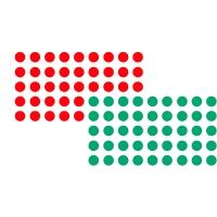 Markierungspunkte Franken UMZ P19/12, Durchmesser: 19mm, rot/grün, 1040 Stück