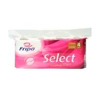 Toilettenpapier Fripa Select, 4-lagig, 160 Blatt, weiß, 8 Stück