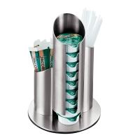 Portionsspender für Milch + Zucker, Edelstahl, Höhe:17,5cm, Durchmesser: 11cm