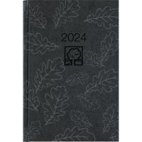 Buchkalender 2018 Zettler 8766UWS, 1 Tag / 1 Seite, A5, anthrazit