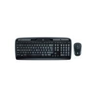 Tastatur-Set Logitech MK330 1411325, mit Maus, kabellos, schwarz