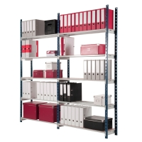 Lagerregal Paperflow 512S, Anbauregal, Maße: 100 x 30 x 206cm