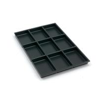 Schubladeneinsatz Bisley 222P1, 9 Fächer, Höhe: 22mm, schwarz