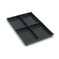 Schubladeneinsatz Bisley 223P1, 4 Fächer, Höhe: 22mm, schwarz