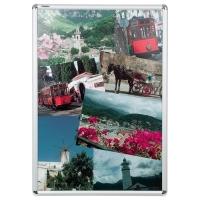 Plakatrahmen Franken BS0704, A1, Maße: 594 x 841 x 12mm, Alu silber
