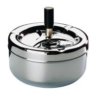 Schleuderaschenbecher 00054, Durchmesser: 13cm, schwarz/chrom