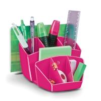 Schreibtischorganizer CEP 1005800311, mehrere Fächer, pink