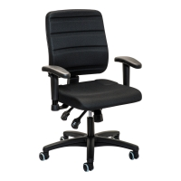 Bürostuhl Prosedia Yourope 4402, mittelhohe Rückenlehne, schwarz