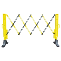 Scherensperre Viso Flexo 200NJ, 2m x 1m, schwarz/gelb