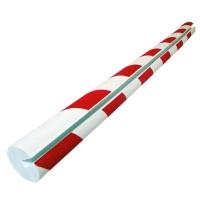 Kantenschutz Viso PU208RB, 750mm, Öffnung: 8mm, rund, rot/weiß