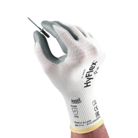 Mechanikschutzhandschuhe HyFlex 11-800, Größe 9, grau/weiß, 12 Paar