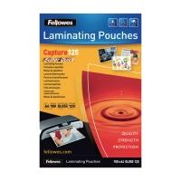 Laminiertaschen Fellowes 5440101, SuperQuick, A4, 125 Mikron, glänzend, 100 Stk.