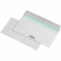 Briefumschläge DIN lang, ohne Fenster, Haftklebung, 80g, weiß, 1000 Stück