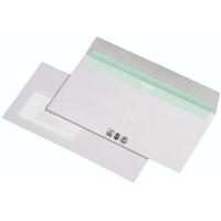Briefumschläge DIN lang, mit Fenster, Haftklebung, 80g, weiß, 1000 Stück