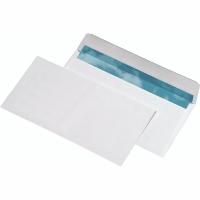 Briefumschläge DIN lang, ohne Fenster, Haftklebung, 80g, Recycling, weiß, 500 St
