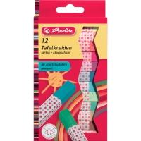 Tafelkreide Herlitz 8648206, farbig sortiert, 12 Stück