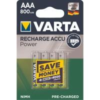 Akku Varta 56703, Micro, HR03/AAA, 1,2 Volt, 800mAh, Longlife, 4 Stück