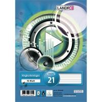 Ringbucheinlagen Landre 392505021, A5, liniert, 50 Blatt