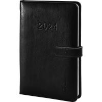 Buchkalender 2018 Chronoplan 50828, 1 Woche / 2 Seiten, 9,5 x 14,5cm, schwarz