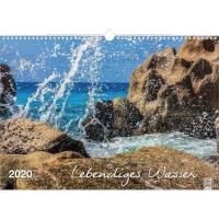 Bildkalender 2018 Brunnen 516143174, lebendiges Wasser, 440 x 310mm