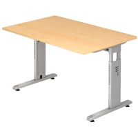 Schreibtisch OS12-3, verstellbar, Größe: 120 x 80cm, ahorn