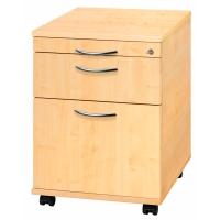Rollcontainer AC20-3-3-BM, Registratur, Größe: 59 x 42,8 x 58 cm, ahorn