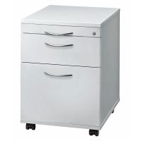 Rollcontainer AC20-5-5-BM, Registratur, Größe: 59 x 42,8 x 58 cm, grau