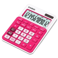 CASIO MS-20NC DESK CALCULATOR 12DIGIT FUSHIA
