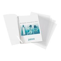 Einbanddeckel Pavo 8048601, A4, PET, transparent, 100 Stück