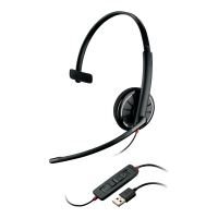 Headset Plantronics 85618-02, C310, schwarz