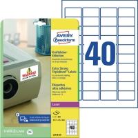Kraftkleber-Etiketten Avery Zweckform L6140, (LxB)45,7x25,4mm, weiß 20Bl/800St