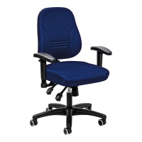 Bürostuhl Prosedia Younico 1402, mittelhohe Rückenlehne, blau
