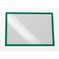 Infotasche Durable 4873, Duraframe, A3, selbstklebend, grün, 2 Stück