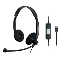 Headset Sennheiser 504547, SC60, USB, schwarz