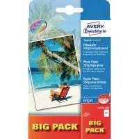 Fotopapier Avery Zweckform C2495, Inkjet, 10 x 15cm, 230g, hochglänzend, 100 Bl