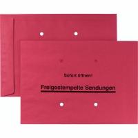 Versandtasche Freistempler, B4, gummiert, 90g, dunkelrot, 250 Stück