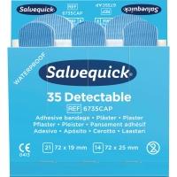 Pflasterstrips Salvequick 6735, detectable, Maße: 72x19 und 72x25mm, 35 Stück