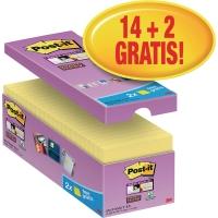 Haftnotizen Post-it Super Sticky 65416SYP, 76x76mm, 14x90Blatt (2 Blöcke GRATIS)
