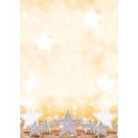 Papier Sigel DP029, DIN A4, Motiv: Glitter Stars, 100 Blatt