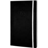 Buchkalender 2018 Chronoplan 50928, 1 Woche / 2 Seiten, A5, schwarz
